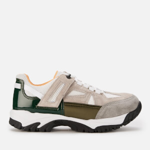 Maison Margiela Men's Security Trainers - Pearl/Olive