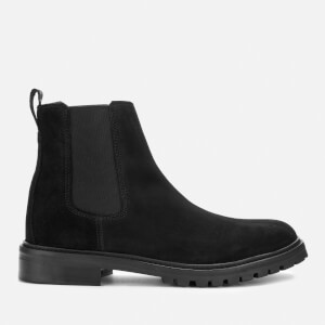 HUGO Men's Explore Suede Chelsea Boots - Black