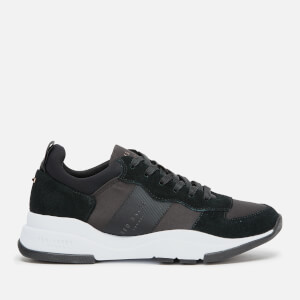 Ted Baker Women's Waverdi Suede/Satin Chunky Running Style Trainers - Black