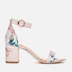 Ted Baker Women's Manyah Satin Block Heeled Sandals - Light Pink