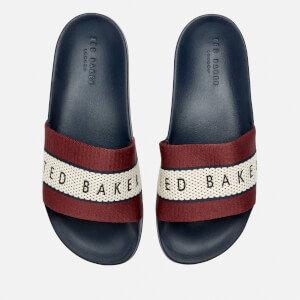 Ted Baker Men's Rastar Slide Sandals - Dark Red/Dark Blue