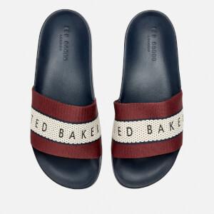 Ted Baker Men's Rastar Slide Sandals - Dark Red/Dark Blue