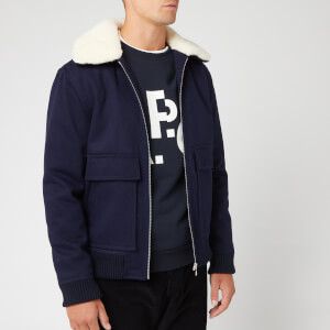 A.P.C. Men's Bronze Jacket - Marine Chine