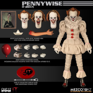 Action figure di Pennywise, da IT (2017), One:12 Collective, Mezco