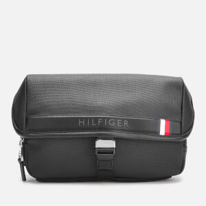 Tommy Hilfiger Men's Coated Canvas Cross Body Bag - Black