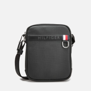 Tommy Hilfiger Men's Coated Canvas Mini Reporter Bag - Black