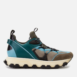 Lanvin Men's New Runner Trainers - Khaki/Blue