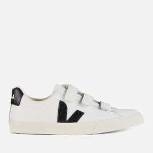 Veja Women's 3-Lock Leather Trainers - Extra White/Black