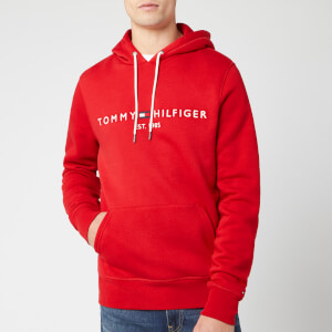 Tommy Hilfiger Men's Tommy Logo Hoodie - Haute Red