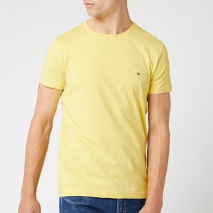 Tommy Hilfiger Men's Stretch Slim Fit T-Shirt - Yellow Cream