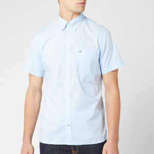 Tommy Hilfiger Men's Slim Summer Poplin Shirt - Chambray Blue