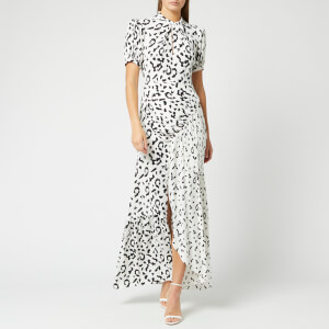 Self-Portrait Women's Leopard Printed Crepe Maxi Dress - Cream/Black