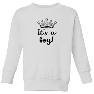 It's A Boy Kids' Sweatshirt - White