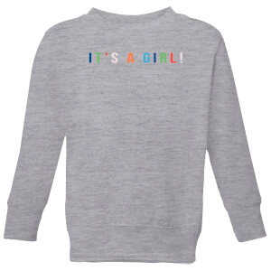 It's A Girl Kids' Sweatshirt - Grey