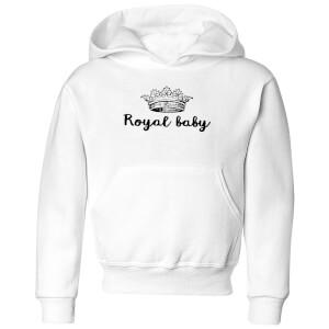 Royal Baby Kids' Hoodie - White