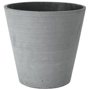 Blomus Coluna Flower Pot - Dark Grey 24cm x 26cm