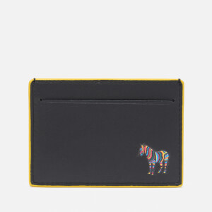 PS Paul Smith Men's Zebra Patch Flat Card Holder - Black