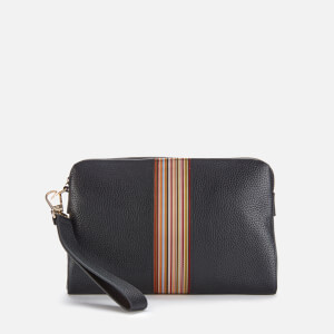 PS Paul Smith Men's Signature Stripe Zip Pouch - Black Pebble