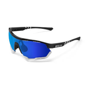 Scicon Aerotech Sunglasses SCN-XT Photochromic Blue Mirror Lens - Black Gloss Frame