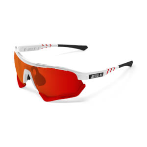 Scicon Aerotech Sunglasses SCN-XT Photochromic Red Mirror Lens - White Gloss Frame