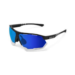 Scicon Aerocomfort Sunglasses SCN-XT Photochromic Blue Mirror Lens - Black Gloss Frame