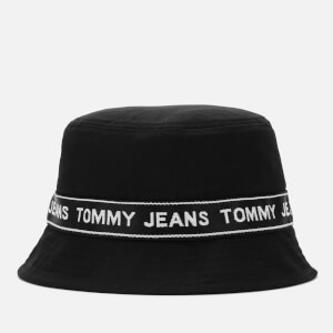 Tommy Jeans Men's Logo Tape Bucket Hat - Black