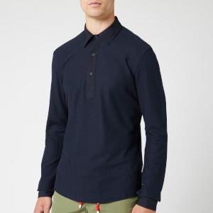 Orlebar Brown Men's Sebastian Long Sleeve Pique Polo Shirt - Navy