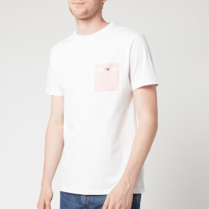 Tommy Jeans Men's Contrast Pocket T-Shirt - Classic White/Peach Skin