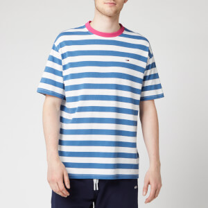 Tommy Jeans Men's Colour Neck Stripe T-Shirt - Federal Blue/Multi
