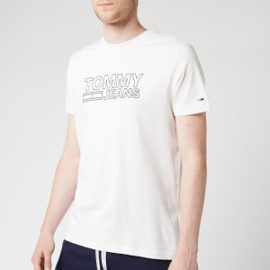 Tommy Jeans Men's Contoured Corporate Logo T-Shirt - Classic White