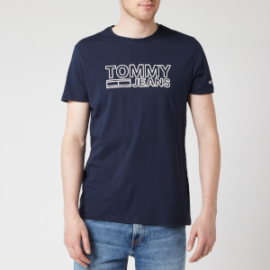 Tommy Jeans Men's Contoured Corporate Logo T-Shirt - Black Iris