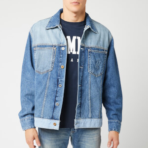 Tommy Jeans Men's Oversized Trucker Jacket - Care Mix Blue