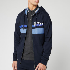 BOSS Men's Authentic Zip Hooded Jacket - Navy/Blue