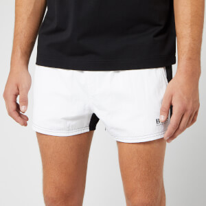 BOSS Men's Goldeye Swim Trunks - White/Black