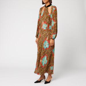 RIXO Women's Teri Maxi Dress - Hawaii Giraffe Print