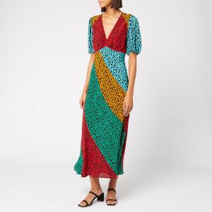 RIXO Women's Amber Maxi Dress - Floral Patch