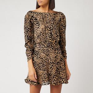 RIXO Women's Clarisse Leopard Burnout Dress - Multi