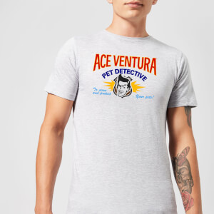 Ace Ventura Serve And Protect Your Pets Men's T-Shirt - Grey