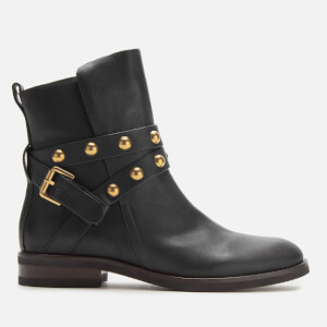 See By Chloé Women's Leather Flat Boots - Nero