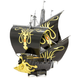 Game of Thrones Metal Earth ICON X Greyjoy Ship Silence Construction Kit