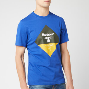 Barbour Beacon Men's Diamond T-Shirt - Sea Blue