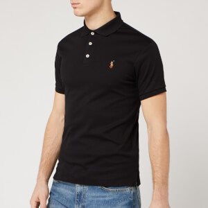 Polo Ralph Lauren Men's Slim Fit Pima Polo - Polo Black