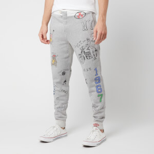 Polo Ralph Lauren Men's Graffiti College Sweatpants - Light Grey Heather