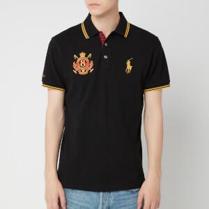 Polo Ralph Lauren Men's Crest Custom Slim Fit Mesh Polo Shirt - Polo Black