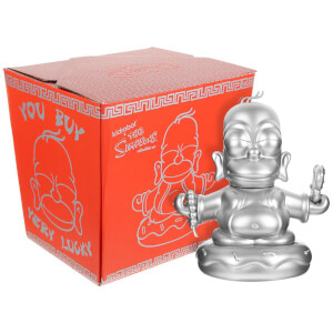Kidrobot The Simpsons 25th Anniversary 7 Inch Silver Homer Buddha