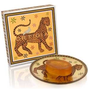 Ortigia Ambra Nera Glass Plate & Soap Set