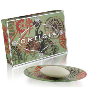 Ortigia Fico d'India Glass Plate & Soap Set