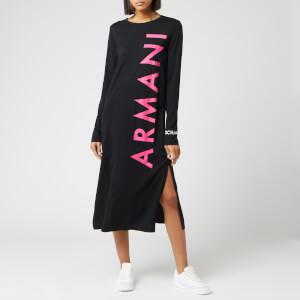 Armani Exchange Women's Logo Midi Dress - Black