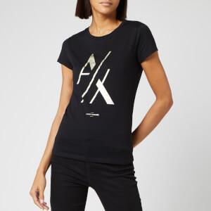 Armani Exchange Women's Foil Logo T-Shirt - Black