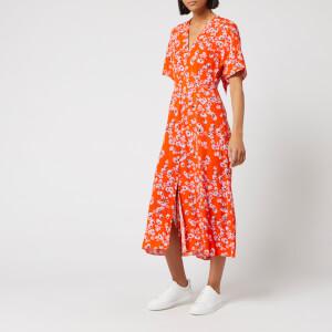 Whistles Women's Digital Daisy Print Zelena Dress - Red/Multi